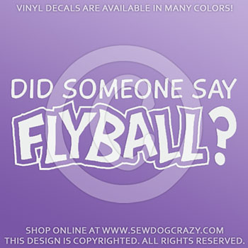Flyball Car Sticker