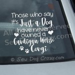 Cardigan Welsh Corgi Vinyl Decals