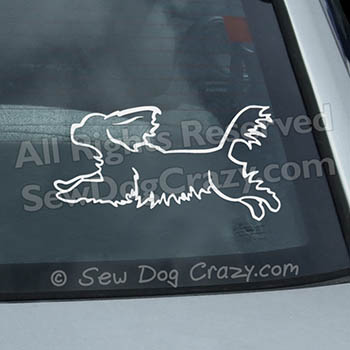 Cavalier Jumping Car Decal