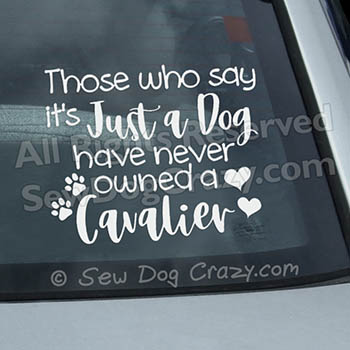 Cavalier King Charles Spaniel Car Window Sticker