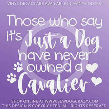Cavalier Vinyl Sticker