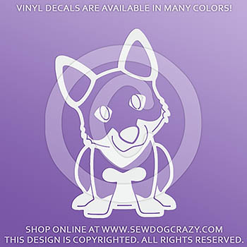 cartoon Vallhund Vinyl Stickers