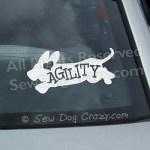 Love Agility Basset Hound Decals