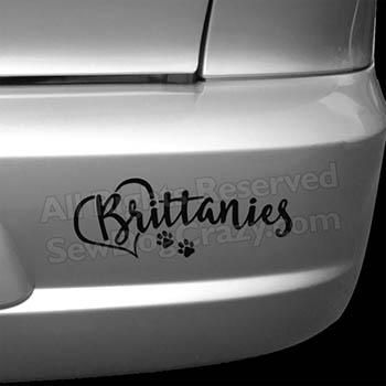 Love Brittanies Car Decal