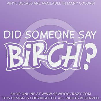 Birch Car Window Sticker