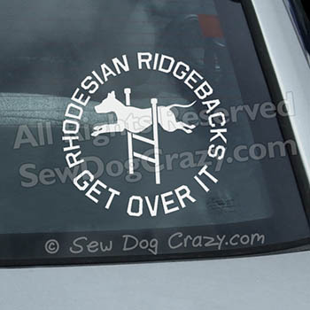Agility Ridgeback Car Sticker