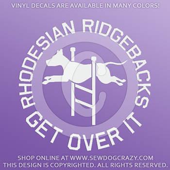 Agility Ridgeback Vinyl Decal