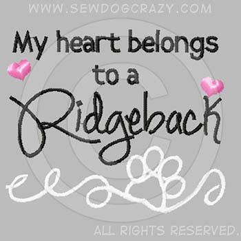 Embroidered Ridgeback Apparel