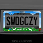 Yorkie Agility License Plate Frame