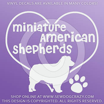 Love Miniature American Shepherds Sticker
