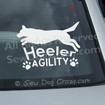 Cattle Dog Agility Car Window Sticker