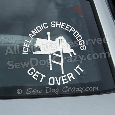 Agility Icelandic Sheepdog Car Window Sticker