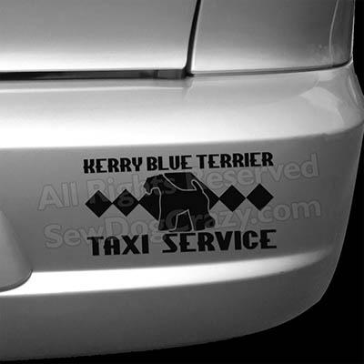 Kerry Blue Terrier Taxi Car Sticker