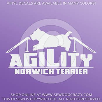 Norwich Terrier Agility Decals