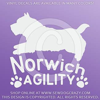 Norwich Agility Vinyl Sticker