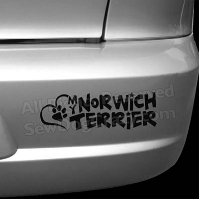 Love my Norwich Terrier Car Stickers