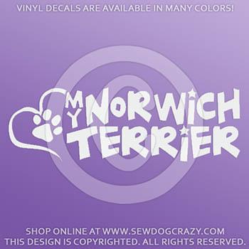 Love my Norwich Terrier Vinyl Stickers