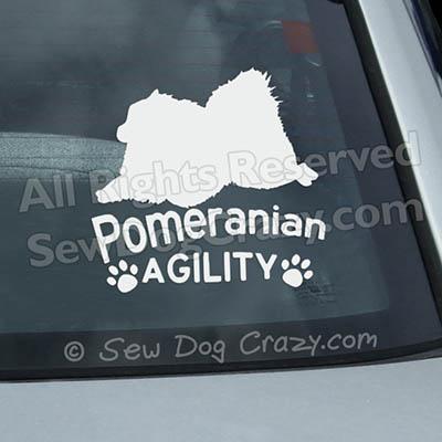 Pomeranian Agility Window Decals