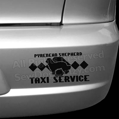 Pyrenean Shepherd Taxi Car Window Sticker