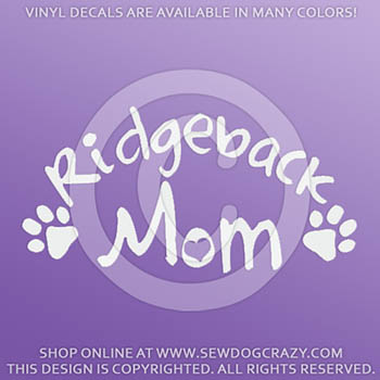 Ridgeback Mom Car Decal