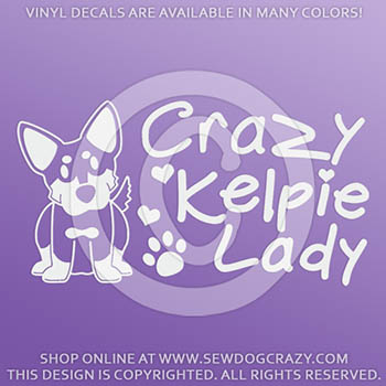 Crazy Kelpie Lady Decals