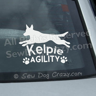 Kelpie Agility Window Stickers