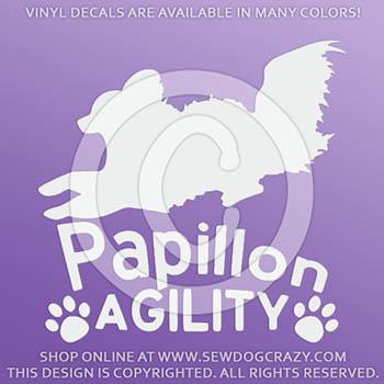 Papillon Agility Vinyl Stickers