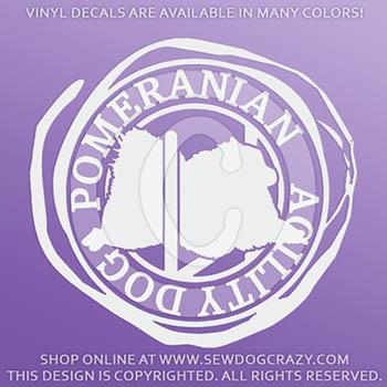 Pomeranian Agility Vinyl Stickers