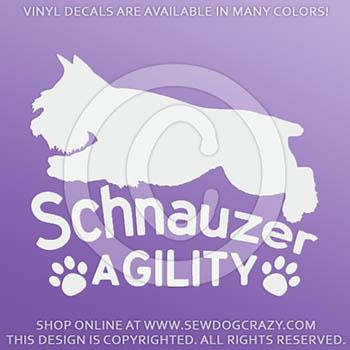 Schnauzer Agility Car Stickers