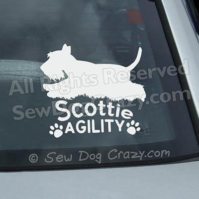 Vinyl Scottie Agility Dog Car Decals