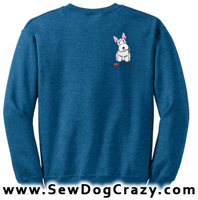 White Scottish Terrier Sweatshirts