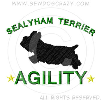 Embroidered Sealyham Terrier Agility Gifts