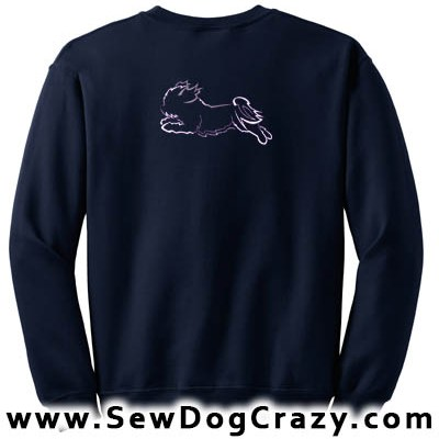 Embroidered Shih Tzu Dog Sports Sweatshirt