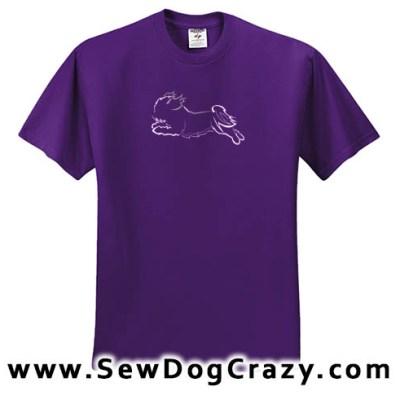 Embroidered Shih Tzu Dog Sports Tees