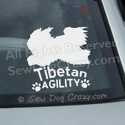 Tibetan Terrier Agility Car Decals