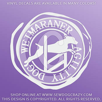 Weimaraner Agility Vinyl Stickers
