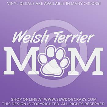 Vinyl Welsh Terrier Mom Decals