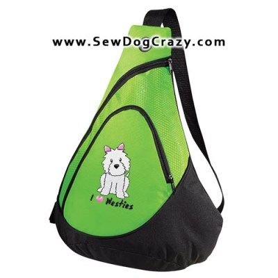 Embroidered Westie Bags