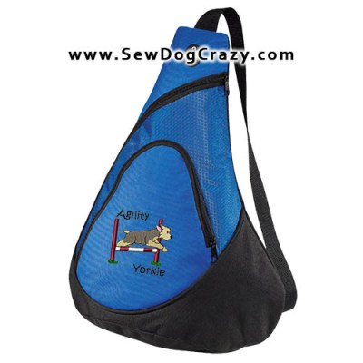 Embroidered Yorkie Agility Bag