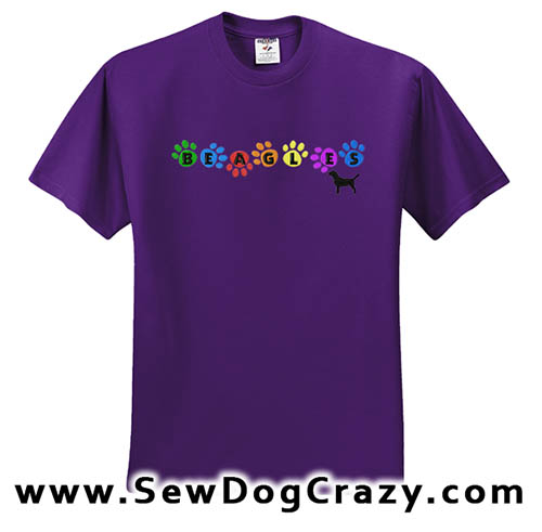Colorful Rainbow Beagle Tshirt