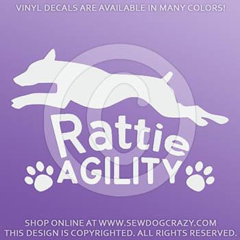 Vinyl Rat Terrier Agility Decals