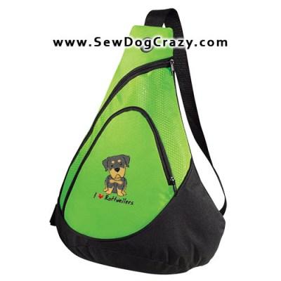 Cartoon I Love Rottweilers Bag