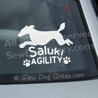 Saluki Agility Window Stickers