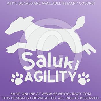Vinyl Saluki Agility Decals