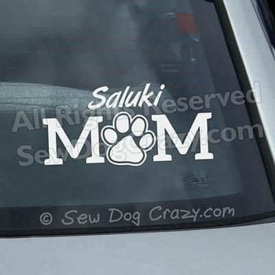 Vinyl Saluki Mom Window Decals