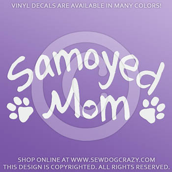 Samoyed Mom Car Decals