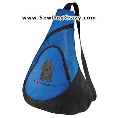 Embroidered Cartoon Schipperke Bag