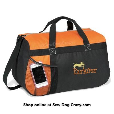 Cartoon Dog Parkour Duffel Bag