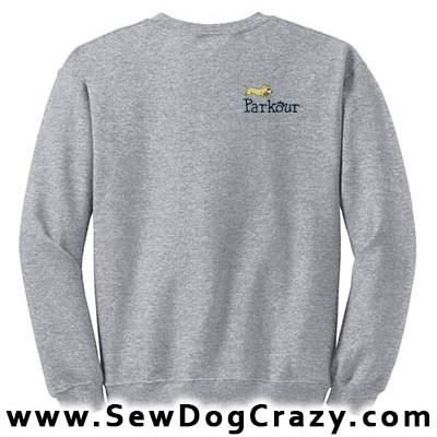 Embroidered Dog Parkour Sweatshirt