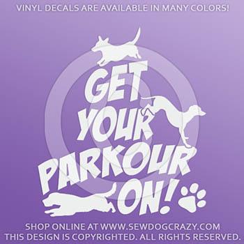 Doggie Parkour Decals